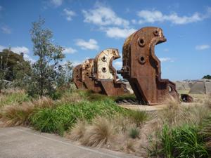 Industrial sculpture at Cockatoo Island