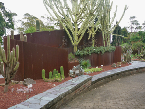 Corten steel & succulents