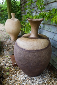 'Crocus Pot' and 'Bronze Pod Pot' by Wendy Hoare