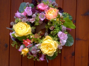 summer wreath by Katie Griffiths