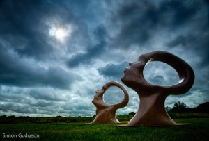 Search for Enlightenment by Simon Gudgeon, sculpture by the lakes