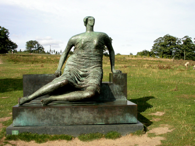 Draped Seated Woman by Henry Moore at the Yorkshire Sculpture Park
