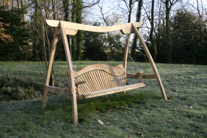 Sitting Spiritually oak swing seat