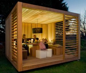 Bespoke garden pavilion from Eco Cube