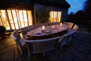 This 4 metre oak table from Gaze Burvill for entertaining on a large scale