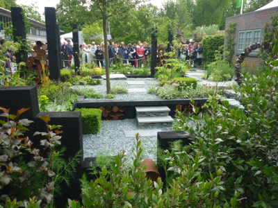 The Great Chelsea Garden Challenge Garden by Sean Murray proved a big hit with the crowds